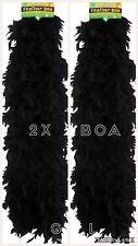 2X Noir Plume Boa Wholesale Burlesque Enterrement Fancy Dress Party vrac Lot