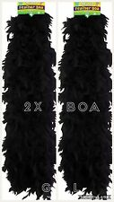 2X Black Feather Boa Wholesale Burlesque Hen Night Fancy Dress Party Bulk Lot