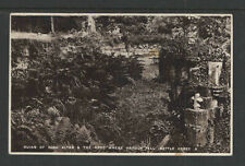 1940 RUINS OF HIGH ALTER & SPOT WHERE HAROLD FELL ENGLAND REAL PICTURE POSTCARD