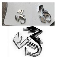 3D Metal Silver Scorpion Car Sticker Truck Auto Decor Badge Emblem Logo Decal