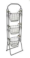 Member'S Mark 3-Tier Basket Set Storage Set With Wood Handheld