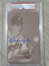 1947-66 Exhibits Warren Spahn Autograph Auto PSA/DNA Authentic