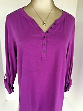 Relativity 1X V-Neck Violet Shirt New with $36 Tag Attached