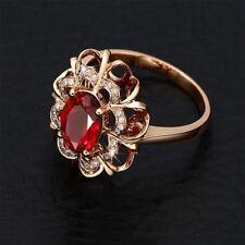 Women's Beauty 18k Rose Gold Plated Colorful Crystal Rhinestone Elegant Ring 9