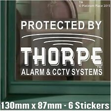 6 x 130 mm Thorpe ALLARME CCTV sistemi ™ sicurezza finestra stickers-warning segni