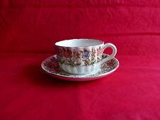 tasse à chocolat sur soucoupe sarreguemines,motif floral