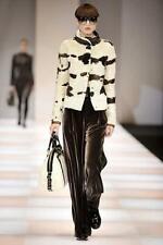 Emporio Armani Calf Fur Leather Jacket £2800 IT42 EU36 Small UK8 Hair cow