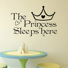 Girl Princess Removable Wall Word Sticker Baby Room Nursery Decal Art Decor