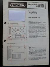 ORIGINALI service manual GRUNDIG REGISTRATORE Augsburg