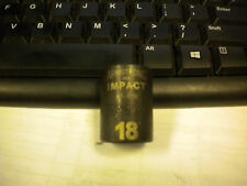 """ARMSTRONG 47-018 18mm 6PT 1/2""""DR IMPACT SOCKET"""