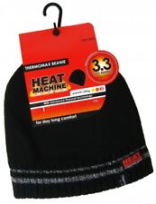 Thermo Beanie Mütze schwarz mit Fleece gefüttert hält die Wärme NEU