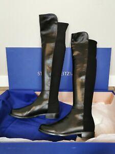 Stuart Weitzman 5050 Black Leather US Size 8
