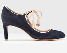 New stunning navy blue suede Boden LILLI MID HEEL Mary Janes Shoes 8 US / 39 EU