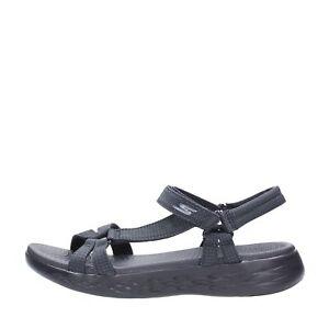 Skechers Sandalo Tessuto Donna Black 15316