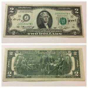 VINTAGE rare $2 KANSAS CITY STAR 1976 TWO DOLLAR BILL JEFFERSON FEDERAL RESERVE