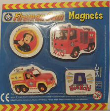 BRAND NEW FIREMAN SAM FRIDGE MAGNETS SET OF 4