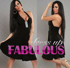 SEXY WOMENS PARTY EVENING LATINA DRESS DANCE SALSA CLUBBING Sz 2 4 6 8 10 XS S M