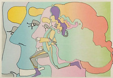 """Peter Max signed serigraph """"Three Lords and Runner""""  artist proof"""