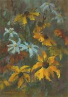 Barbara Doyle (b.1917) - 1982 Oil, Rudbeckia And Daisies