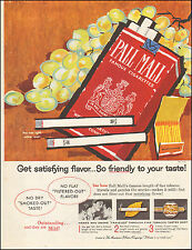 Vintage ad for Pall Mall Cigarettes`Retro Grapes Red Package Tobacco (042617)