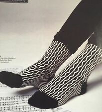 KNITTING PATTERN Ladies Monochrome Socks Zig Zag Design Artesano 4 ply PATTERN