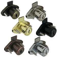 Desk Drawer Lock 78 Bore Withtrim Ring Amp 2 Keys 6 Finishes Available