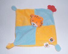 Simba ABC Tiger blau & orange Beißecke Schmusetuch Schnuffeltuch Kuscheltuch *