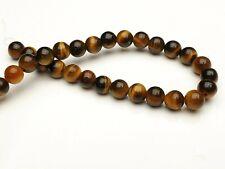 Tigerauge Edelstein Perlen braun rund Kugel Gemstone beads 6 mm