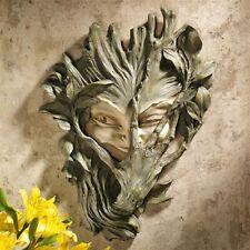 Bashful Forest Sprite Nature Spirit Wall Sculpture Garden Greenwoman Plaque