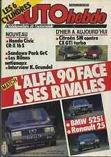 AUTO HEBDO n°450 du 13 Décembre 1984 CITROEN SM/CX GTI TURBO ALFA 90 BMW 525i