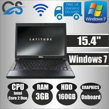 """WINDOWS 7 DELL LATITUDE E5500 15.4"""" LAPTOP INTEL CORE 2 DUO 3GB DDR2 160GB HDD"""