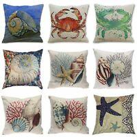 Home Decor Decorative throw Pillow Cover Beach Ocean Seaside Coastal Pillowcase