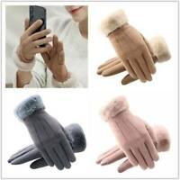 Women Fleece Lined Thermal Gloves Touch Screen Winter Warm Full Finger Mittens