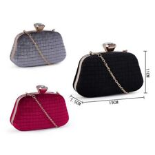 Women's Velvet Diamante Designer Clutch Bag  Evening Bag with Shoulder Strap
