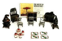 Vintage Durham Industries Metal Miniatures Doll House Furniture