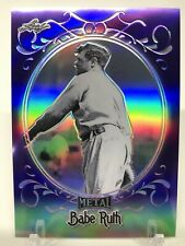2019 Leaf Metal Babe Ruth Purple Refractor 3/25! Jersey Number!