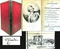 1784 FIRST AERIAL VOYAGE IN ENGLAND SIGNED VICENZO LUNARDI AIR FLIGHT AVIATION $