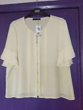 MARKS AND SPENCER PALE YELLOW LOOSE BLOUSE SIZE 20 BNWT