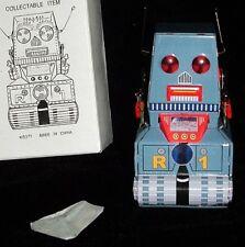 """ROBOT ORIGINAL ALL METAL TIN WIND-UP LastOne! SCI-FI MINTnBox 3.5""""Tall"""