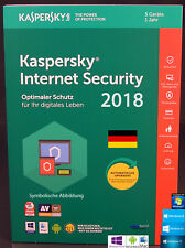 Kaspersky Internet Security 2018 Vollversion 5 Geräte PC/Mac/Android + Anleitung