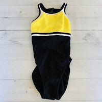 Vintage 90s JAG Swimsuit HIGH Leg CUT One-Piece  Cut Out Sz 4 Color Block