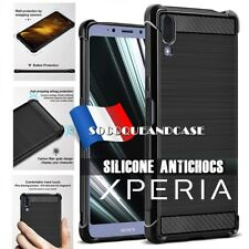 Etui Coque Housse Silicone CARBON DESIGN TPU SHOCKPROOF case Sony XPERIA L3