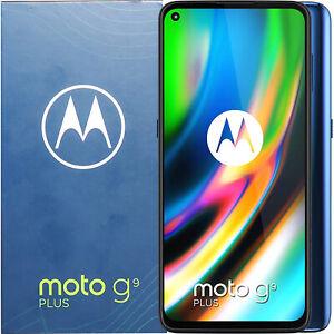 New Motorola Moto G9 Plus Dual-SIM 128GB + 4GB Navy Blue Unlocked 4G/LTE GSM