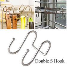 Stainless Steel Organizer Double S Shaped Hook Hanger Clasps Hooks Storage Rack