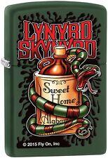 Zippo Lynyrd Skynyrd American Rock Music Black Matte Windproof Lighter 29054 NEW