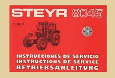 STEYR 8045 Traktor   Betriebsanleitung Original