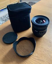 Sigma EX 10-20mm F/4.0-5.6 HSM DC EX Lens Very good condition with case.