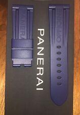 Panerai rubber strap DARK BLUE FACTORY OEM REGULAR size 26mm/22mm 125/75mm NEW