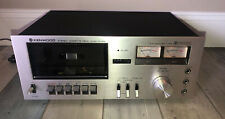 Vintage Kenwood Kx-530 Dolby Single Cassette Deck Tested