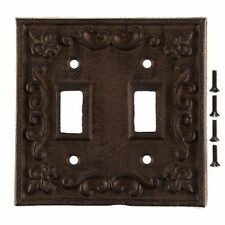NEW! Heavy Cast Iron Light Switch Plate Cover antique finish ornate victorian